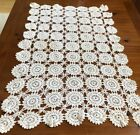 VINTAGE ANTIQUE CROCHET PINWHEELS RUNNER, DOILY, THROW, CUTTER, CRAFT 29