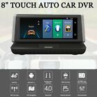 """8"""" Touch Auto Car DVR 4G Android WIFI GPS Video Recorder Dual Lens Dash Cam GG"""