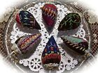 STRAWBERRIES from 1880-90s CRAZY QUILT~LAVENDER FILLED~FINE EMBROIDERY