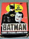 1989 Topps Batman Series 1 One - 36 Packs Wax Box - from Case - Movie Cards