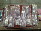 NEW 6PC- Alvin Sterling Silver Salad Forks CHATEAU ROSE Approx 210 Grams
