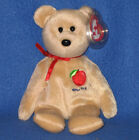 TY BIG APPLE the BEAR BEANIE BABY - NY EXCLUSIVE - MINT with MINT TAGS