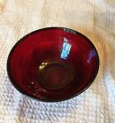 ruby red pressed glass cereal bowl