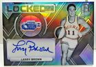 Larry Brown 2017-18 Panini Spectra Locked In Silver Prizm Autograph Auto #'d 99