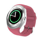 Bluetooth Smart Watch Phone Mate Full Round Screen SIM For Android For IOS Pink