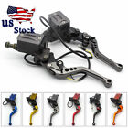 USA Universal 7 8 Motorcycle Brake Clutch Master Cylinder Hydraulic Levers Gray