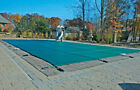 16 x 36 Economy Rectangle Inground Swimming Pool Safety Cover Forest Green