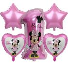 Minnie Mouse 1st birthday balloons Pink