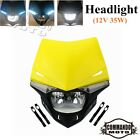 H4 12V Dual Sport Motocross Supermoto Headlight Head Lamp Fairing Universal Fits