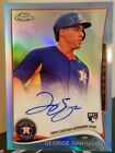 GEORGE SPRINGER RC ON CARD AUTO 2014 TOPPS CHROME BLUE REFRACTOR SP # 199 ASTROS