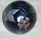 Vintage Correia Butterfly  Flowers Art Glass Signed Paperweight Mint Condition
