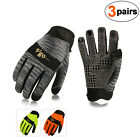 Vgo 3pairs Synthetic Leather Work Antislip Gloves Multipurposesl7895p3