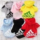 Adidog Small Dogs Puppy Apparel Hoodie Sweater Warm T Shirt Jumpsuit Pet Hoodies