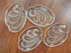 Vintage Federal Glass Hospitality Lunch Snack Plates ( set of 4)