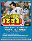 2018 Topps Archives Baseball Factory Sealed Hobby Box
