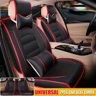 5 Seats Pu Leather Deluxe Car Rear Cover Seat Protector Cushion Sets Pillows