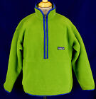 232 Patagonia Synchilla boy girl fleece jaacket sweatshirt top 1/2 zip EUC S 8