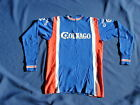 Vintage COLNAGO Elastic Wool Long Sleeve Cycling Jersey Euro Sz 5 with buttons