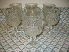 Vtg Indiana Glass Diamond Point Set of 8 Water Goblet 6 1/2
