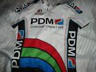 VINTAGE TEAM PDM CHROME TAPES ULTIMA CYCLING BICYCLE JERSEY MENS sz 4 LARGE