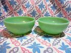 Vintage Fire King Jadeite Cereal Bowls x 2 in Very Good to Excellent Condition