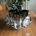 Vintage Mid Century Modern Dorothy Thorpe Tumbler Set With Coasters And Carrier