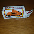 Vintage Tomica Dandy diecast VW Volkswagen Beetle Orange DJ 011 w Torn Flap Box