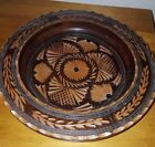 carved wooden bowl bintage treen bowl