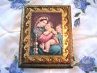 Gold Gilt Embossed Wood Italian Tole Florentine Madonna of the Chair Picture