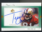99 TERRELL OWENS UD Sp Authentic Players Ink ON CARD Auto Green 49ers HOF NR