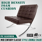 Mid Century Classic Style Leather Lounge Chair expertly hand sewn snap buttons