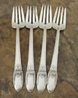 IS First Love Set of 4 Salad Forks 1847 Rogers Silverplate Flatware Lot K