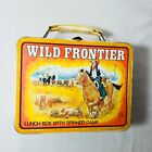 Vintage 1977 Wild Frontier Metal Lunch Box with Spinner Game