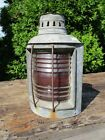 Vintage Port Side Ship Light w/ Original Burner Nautical Maritime, No Cracks