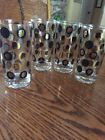 Set Of 4 Vintage Mid Century Gold And Black  Our Presidents Glasses Tumblers