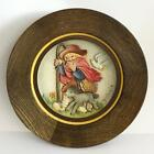 "Vintage ANRI wooden plate carving Christas 1981 ""Spreading the Word"" ... Lot 18H"