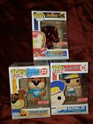 Funko Pop Lot Target Exclusive Sugar Bear Iron Man Red Metallic and Bazooka Joe