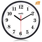 Silent Round Wall Clock Large Non Ticking Quiet Sweep Movement Room Decoration