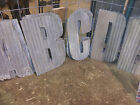 18 Corrugated Metal Letters A Z and Numbers 0 9