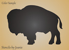 Joanie Stencil Prairie Buffalo Bison Outdoor Rustic Cabin Lodge Wildlife Animal
