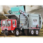 124 Scale Diecast Material KDW Transporter Garbage Truck Vehicle Car Model Gift