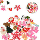 20Pcs Mix Merry Christmas Resin Flatback Button for Phone Case Craft DIY 15 25mm