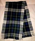 "P Aris Women's Blue Plaid 100% Acrylic Scarf 64"" X 8"" Made In Mexico"