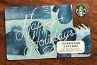 "Starbucks Gift Card 2017 ""Happy Holidays"" Mittens Celebration Holiday No $ Value"