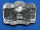 1887 AMERY, WI 1987 Centennial Metal Belt Buckle Limited Edition No.121 USA