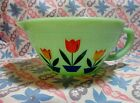 Jadeite Green Glass Dutch Tulip Batter Bowl in Excellent Condition