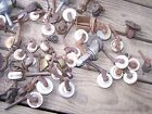 Large Lot of Antique Vintage Furniture Brass Bed Casters glass 23lbs approx 100