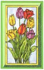 Flowers Spring Tulips Frame Wood Mounted Rubber Stamp NORTHWOODS NN10390 New