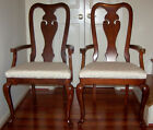 Queen Anne Style Dining Room Chairs (two) with Arms-Bernhardt Furniture