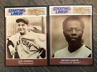 1989 Starting Lineup HANK AARON LOU GEHRIG 2 Cards MINT